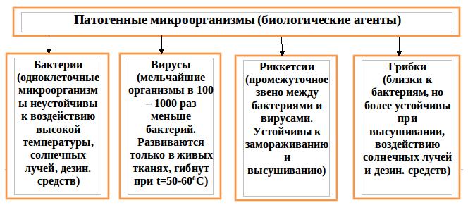 Рис.6 Классификация биологических агентов
